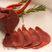 Wildschweinschinken geschnitten