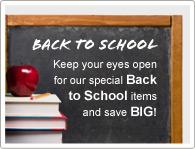 Achten Sie auf unsere speziellen Zurück in die Schule Produkte und SPAREN Sie!